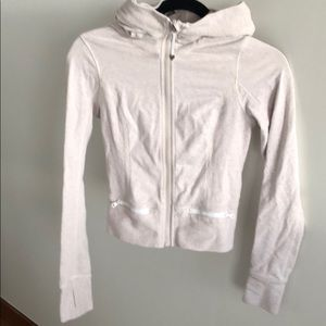 Lululemon cream hooded zip up